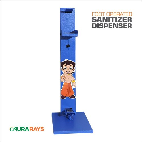 Blue Foot Operated Sanitizer Dispenser