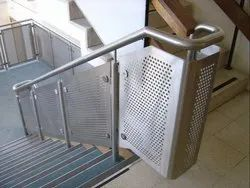 Silver Stainless Steel Perforated and Mesh Railing Systems