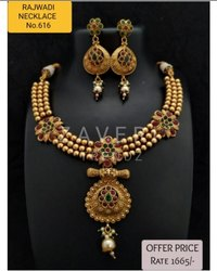 616 Rajwadi Antique Necklace Sets