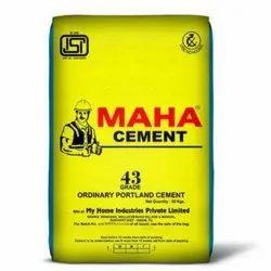 Maha OPC 43 Grade Cement, Packaging Size: 50 Kg