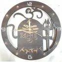 Vimal Enterprise Black Designer Clock