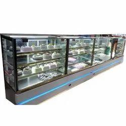 4 Shelves Non AC Sweet Display Counter