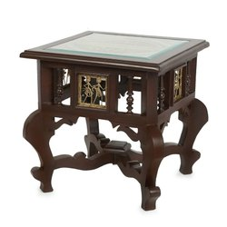 Malik Furniture Square Wooden Designer Antique Table