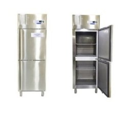 Silver Stainless steel 2 door vertical Refrigerator