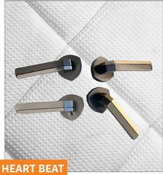 Heart Beat Brass Mortise Handle