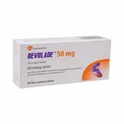 Eltrombopag Olamine Revolade 50 mg Tablet, 28 Tablets, Prescription