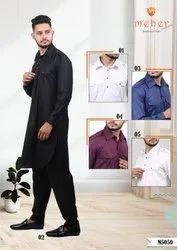 casual & out door Plain Men Pathani Suit