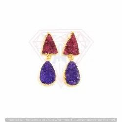 Druzy Gemstone Red and Purple Colour