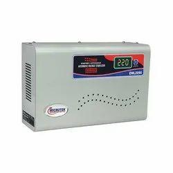 Single Phase MICROTEK VOLTAGE STABILIZER FOR MAINLINE EML 2090, 100-290 V, 200-220 Volts