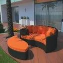 Outdoor Wicker Patio Sunbed