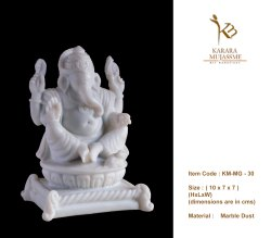 Marble Dust Ganesha Statue