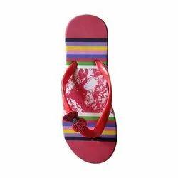 Casual Wear Ladies Flip Flop Slipper, Design/Pattern: Printed