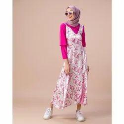 Cami Pink Peter Pan Neckline Top with A line Dress