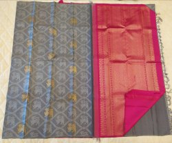 Cement Color Silk Saree