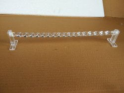 Acrylic Towel Rod Diamond 24 inches