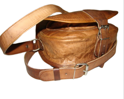 Genuine Leather Flap Saddle Bag