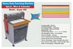 Spiral Wiro & Calendar Punching Machine, High, Model Name/Number: 450 Electric