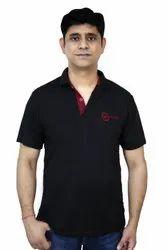 Half Sleeves 100% Polyester Men Polo T Shirt, Size: L- XL