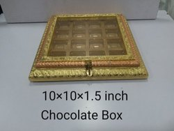 10x10x1.5 Inch Wooden Chocolate Box