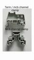 MCB end clamps - SV02