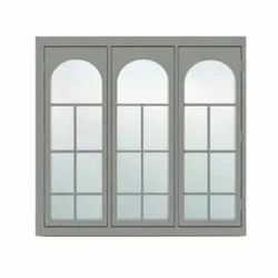 Modern Gray(Frame) Cabins CAB-109 TATA GALVANO Steel Windows, For Residential, Size/Dimension: 150 X 140 Cm
