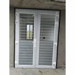 Sliding Tempered Glass UPVC Door With Safety Grill, 12 Mm