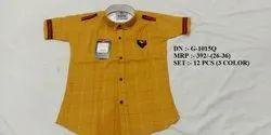 Very Stylish Easy Neck Design Half Sleeve Shirt For Boys