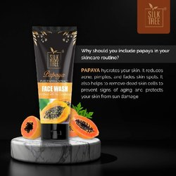 SilkTree Papaya Face Wash, For Personal, Packaging Size: 100 Gm