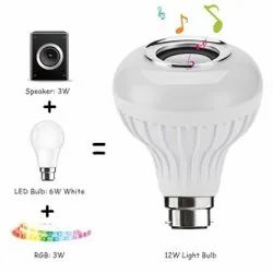 Round 6W Bluetooth Music Bulb For Home