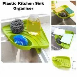 Plastic Free Standing Sink Wash Basin Kitchen Corner Shelf Organizer Tray