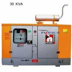 Three Phase 30 KVA Mahindra Generator Set