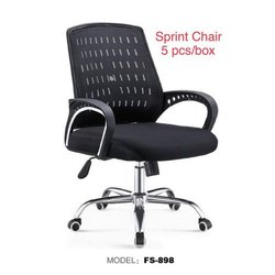 Fabric Stainless Steel FS-898 Sprint Chair, Black