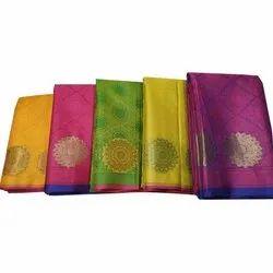 Zeba Handicrafts Party Wear Printed Banarasi Jacquard Saree, 6.3 m (with blouse piece)