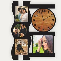 Photo Frame With Clock