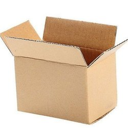 Brown Rectangular 5 Ply Plain Corrugated Cardboard Box
