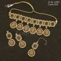 Traditional Reverse AD Polki Necklace Set