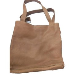 Plain Brown Soft Leather Handbag