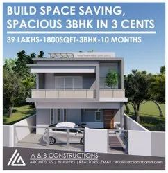 Build Spacious 1800 Sqft 3bhk In 3 Cents