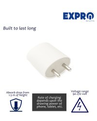 White ABS Plastic Expro-B1-adapter, For Mobiles