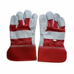 Unisex RLG - 1218 Split Leather Palm Working Gloves, Finger Type: Full Fingered