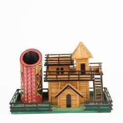 Traditional Wooden Handicraft Home, For Decoration, Size: 10 X 8 X 7 Inches