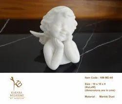 Marble Dust Cupid Angel