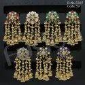 Ethnic Designer Pearl Meenakari Hanging Earrings