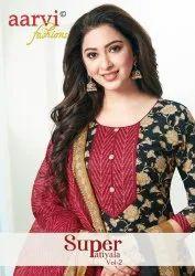 Red Salwar Super Patiyala Vol 2 Aarvi Fashions Readymade Dress