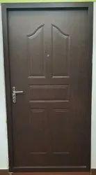 TATA Embossed Wood Finish Steel Door