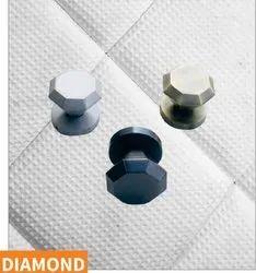 Diamond Brass Drawer Knob