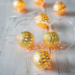 Warm White 3 Meter Globe Metal LED String Light, Plug-in
