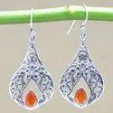 925 Sterling Silver Jewelry Carnelian Wholesale Earring WE-6211