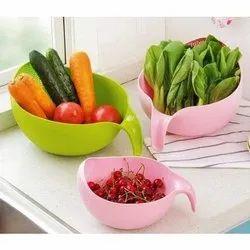 Round Plain Plastic Washing Bowl, For Kitchen, Size: 6 Inch