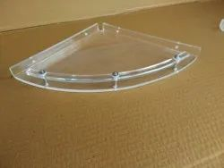 Acrylic Corner Shelf Half Round (12 Inches)
